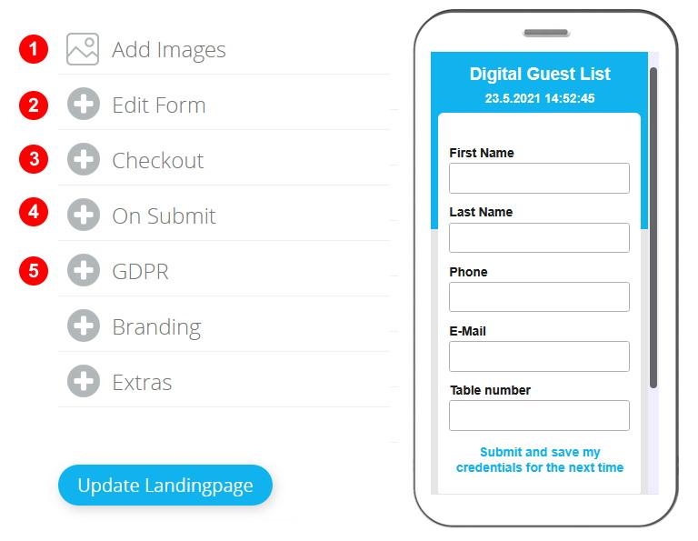 Create Digital guestlist